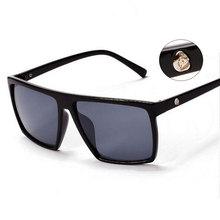Brand New 2015 Steampunk Square Sunglasses Men SKULL Logo All Black Coating Sun Glasses Women Brand Designer Retro gafas de sol