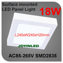 18W Surface Mounted white case square LED Panel Light NO cut hole Ceiling down Lighting include driver for chrildren bathroom(China (Mainland))