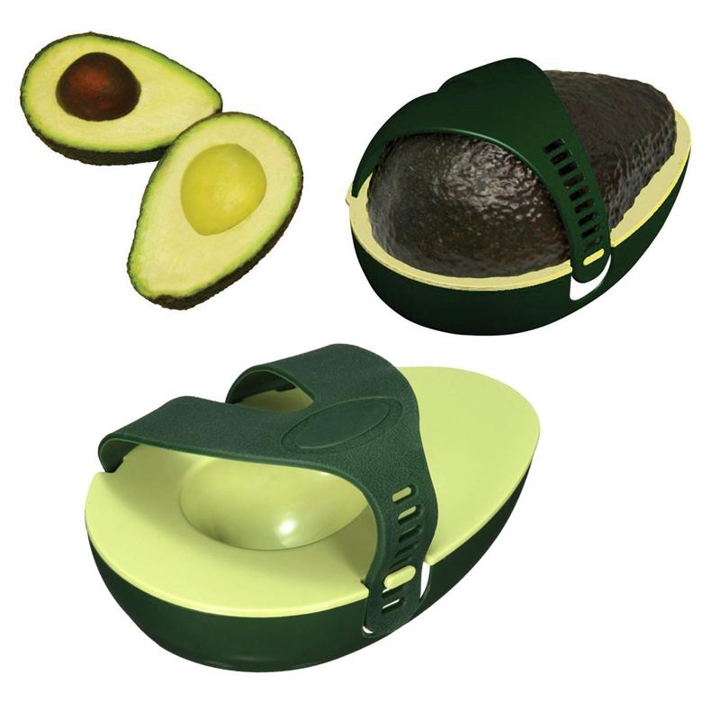 Innovative Green Avocado Avo Stay Fresh Saver Leftover Half Food Keeper Holder Kitchen Gadget Plastic(China (Mainland))