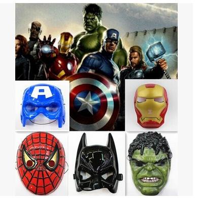 5PCs/Lot Superhero Mask Iron Man/Batman/Spider man/Captain America/Hulk Mask for Halloween Party(China (Mainland))