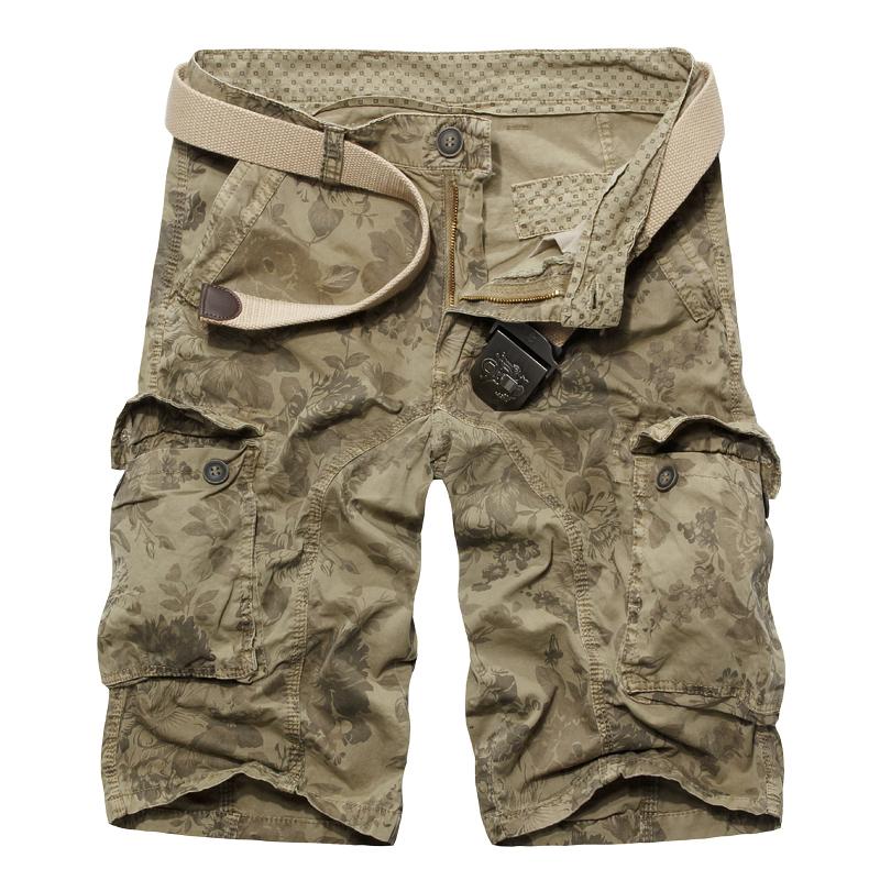 2015 New Camouflage Shorts Men Military Army Cargo Camo Shorts Loose Cotton Multi pockets Bermuda Masculina Beach(China (Mainland))