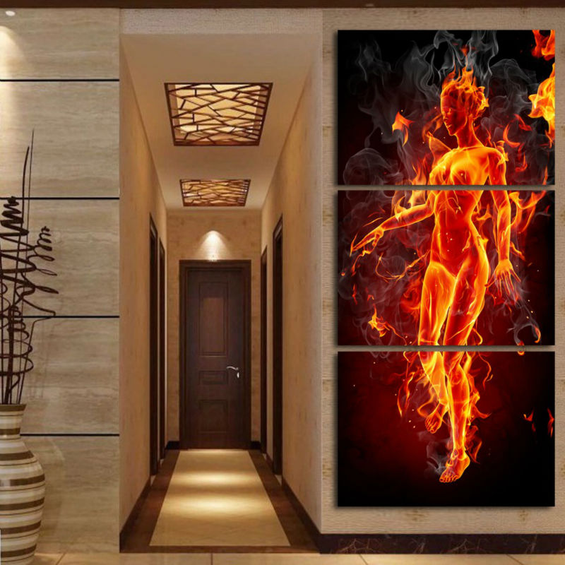 Female Nude Women Body Canvas Art Painting 3 Panel Modern Europe Lady Girl Decorative Pictures Sex Bedroom Decor New Hot GAZ304(China (Mainland))