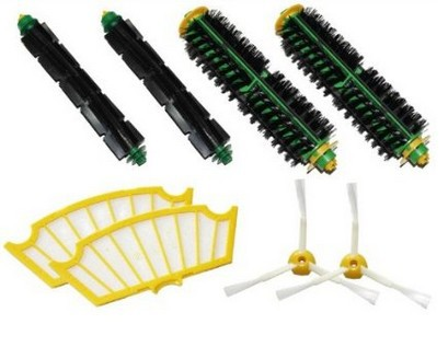 2 set Brush kit +2 Filter For iRobot Roomba 500 510 520 530 540 550 560 570 610 etc.Vacuum Cleaner Accessory Replacment(China (Mainland))
