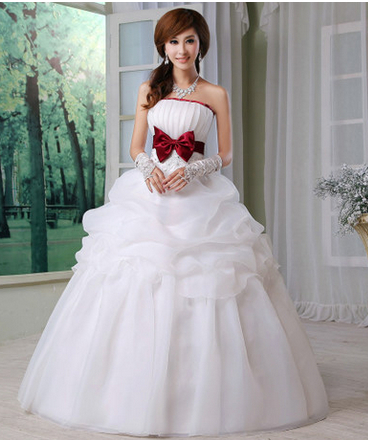Buy 2014 new elegance red bow knot for Where to buy red wedding dress