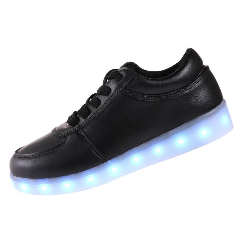 2016 erkek Renkli parlayan ayakkabı yanar led ışıklı ayakkabı ile yeni bir simülasyon sole ayakkabı led