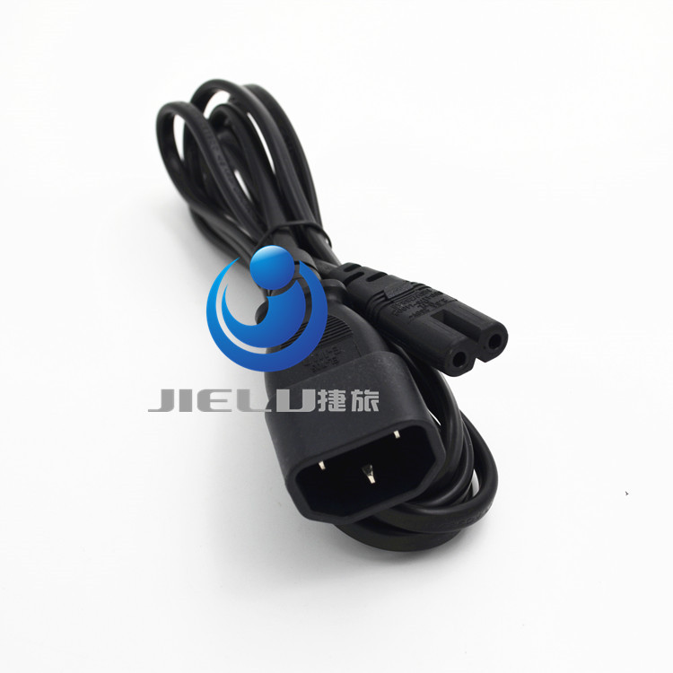 IEC 3P Plug to 2P Kettle Female Power Extension Cable C14-C7 PC to Monitor 1M ,1 pcs(China (Mainland))