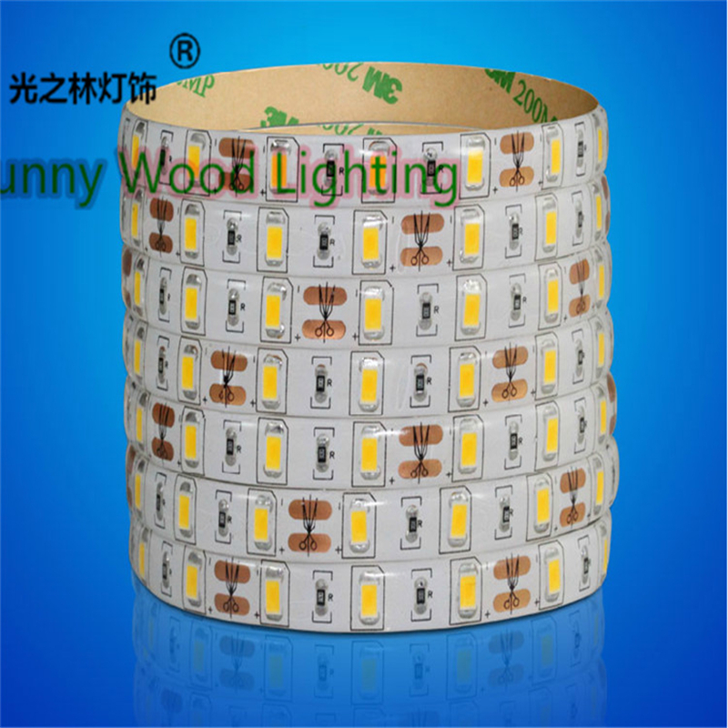 5M/Roll 5630 60led/m 12VDC 18W/M IP65 soft strip ,led tape light for outdoor and decoration , ceiling strip,cabinet strip(China (Mainland))