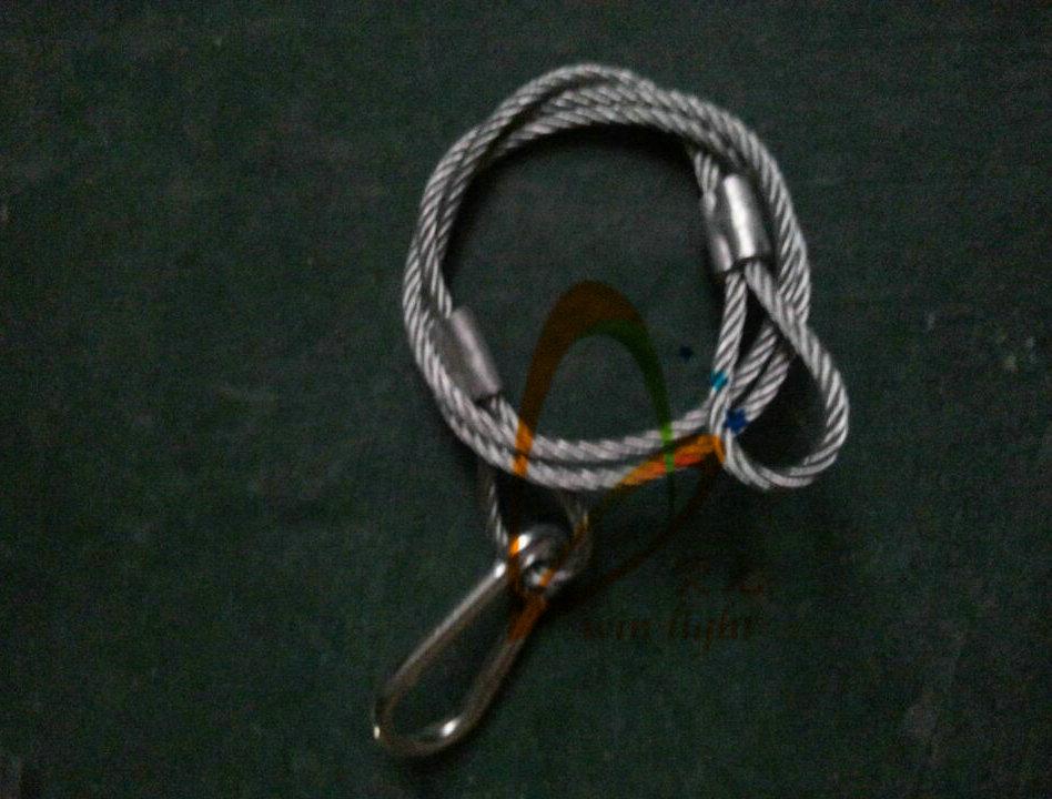 ( 40 pcs / lot ) Aluminium Stage Light Safety Cable(China (Mainland))