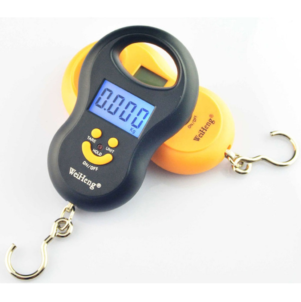 Hanging Scale 50Kg /5g Digital BackLight Fishing Pocket Weight Luggage Scales Kg Lb OZ(China (Mainland))