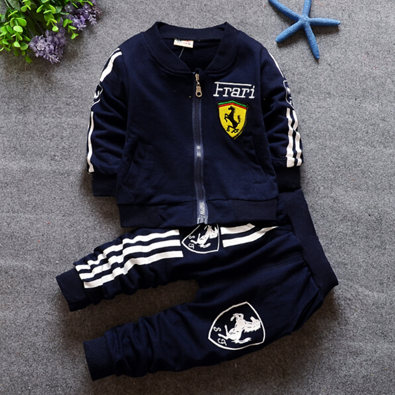 2016 HOT Boy Clothes Brand Family Clothing Set Active Children Sport Suit Child Garment Kids Fall Tracksuit Outfits Coat Pants(China (Mainland))
