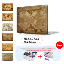Hot Seller Retro World Map Case For Apple Macbook Air Pro Retina 11 12 13 15 Laptop Cover Bag For Mac book 11.6 13.3 15.4 inch