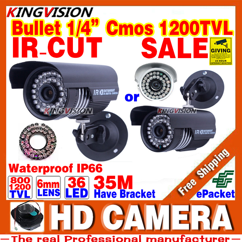 Real HD 1/3cmos 1200TVL Sensor Waterproof IP66 Day/N Security AHDL CCTV Camera Indoor Outdoor IRCUT Video 36led infrared Vision(China (Mainland))