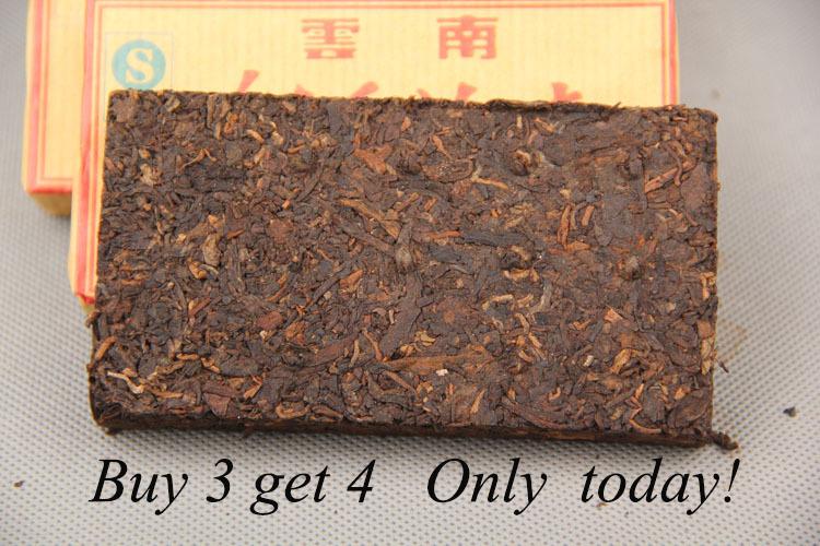 Buy 3 get 4,10 years old original Puer Tea,100g Puerh Pu er Tea,Ansestor Antique,Honey Sweet,dull-red Puerh Tea,Ancient tree(China (Mainland))