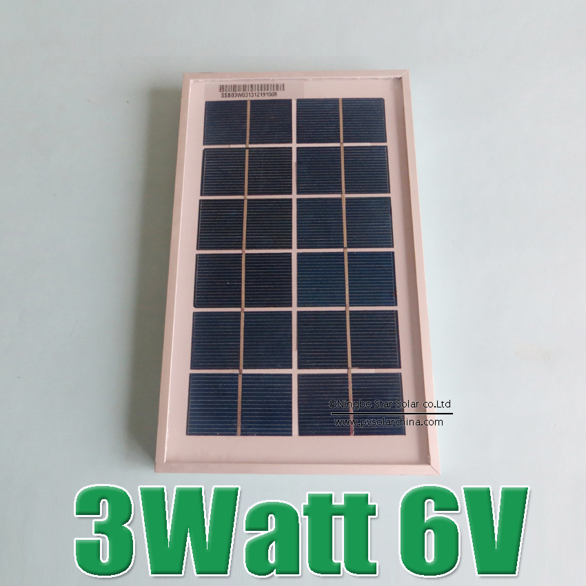 Hot Sale 3W 6V Polycrystalline silicon Solar cell Panel charge for 3.7V li Li-ion lithium LiFePO4 Battery(China (Mainland))