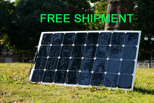 Marine flexible solar panel 100W use sunpower solar cells for outdoor, car,travel, camping 12V rechargeable battery(China (Mainland))