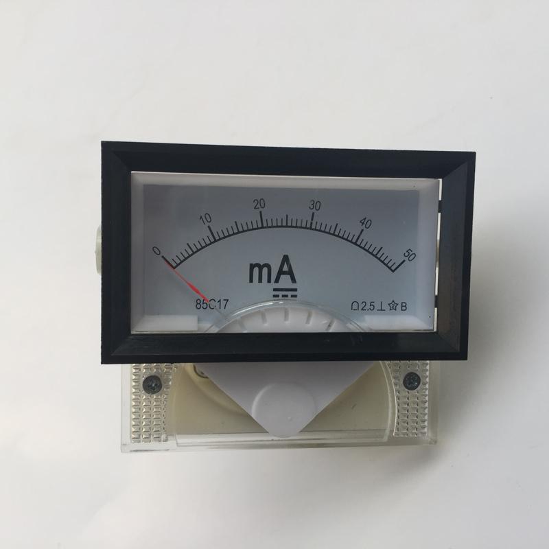 DC Ampere Meter 50mA 85C17 0-50 milliampere Amp Analog Panel Meter Current Ammeter Co2 Laser Cutting Engraving Machine(China (Mainland))