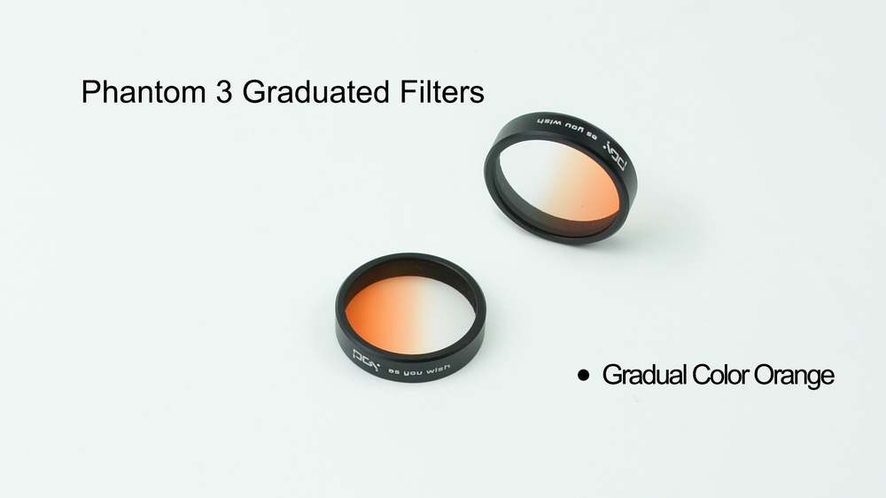 PGY Orange Gradual color Graduated Filters Lens for DJI phantom 4/phantom3 Gimbal Camera filter Quadcopter drone accessories