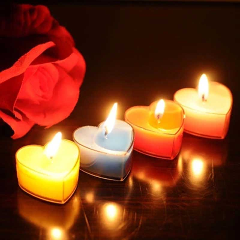 New 10 pcs/lot Warm Heart Shaped Candle Love Wedding Party Birthday Home Candle Night Candles Xmas Party Wedding Candles(China (Mainland))