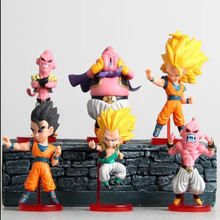 6pcs Bandai Dragonball z Genki figurines toy 2015 New super saiyan 7 kai Miniatures Anime figuras Dragon ball resurrection of f