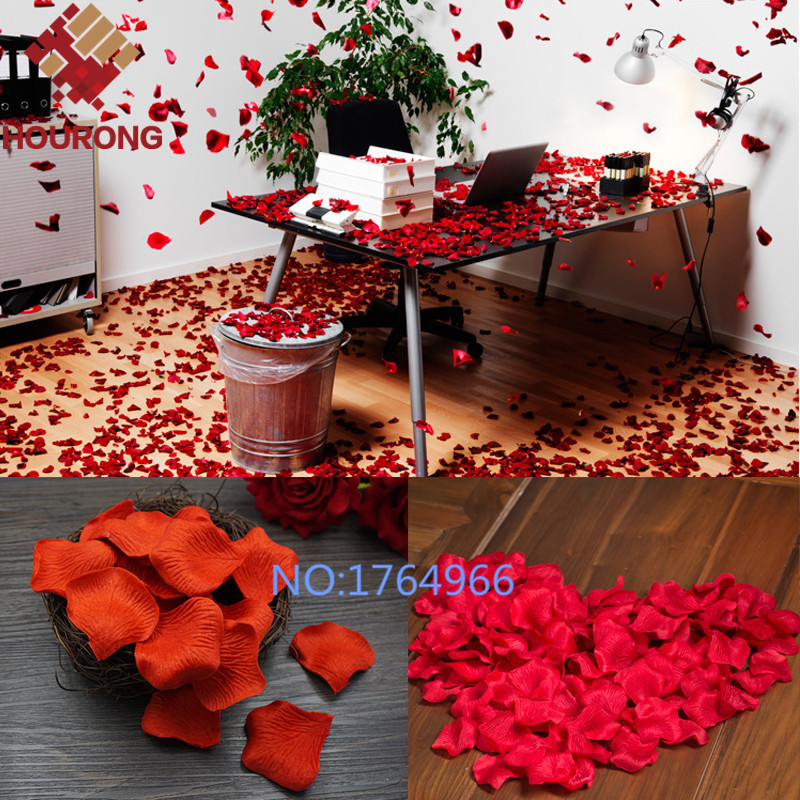1000Pcs/Lot 21 Colors Silk Rose Petals Leaves Artificial Flowers Petals Wedding Decoration Party Decor Festival Table Decor(China (Mainland))