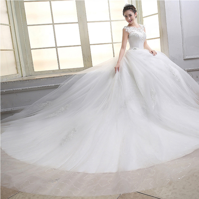 Plus size pregnant woman red lace wedding gown luxury women wedding dress ball gown wedding dresses with long train WED90192(China (Mainland))