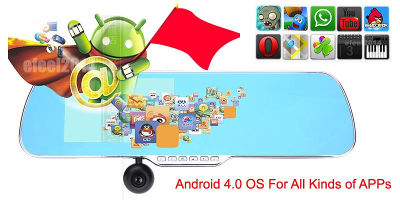 5.0 inch Capacitive Touchscreen rearview mirror android 4.0 car GPS Navigation,Car DVRS Full 1080P,Rear view Camera,Navitel map(China (Mainland))