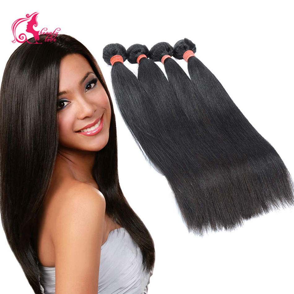 7A Virgin Hair Weave Filipino Virgin Hair Straight Cheap Unprocessed Hair Bundles 4pcs lot Virgin Filipino Human Hair Extension
