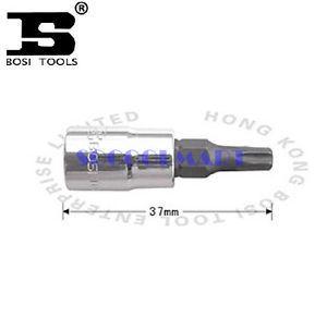 PRETTY 5Pcs 37mm Long 1/4-inch Drive T40 Steel Torx Screwdriver Bit Socket*