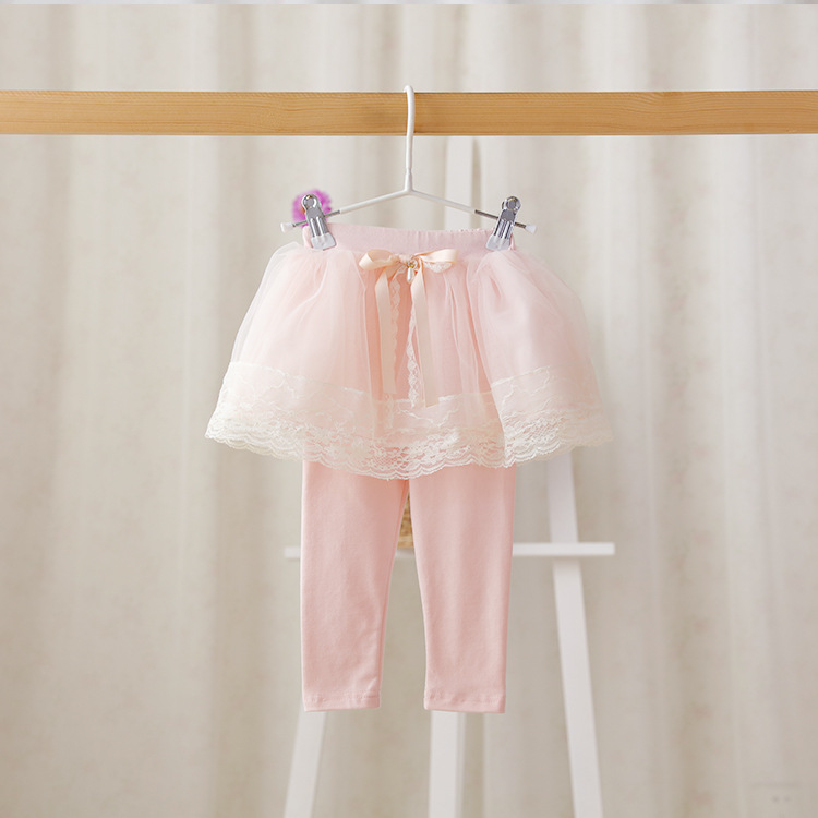2016 New baby girls lace princess pantskirt children leggings bow cotton 4 colors 5 pcs/lot wholesale 2908<br><br>Aliexpress