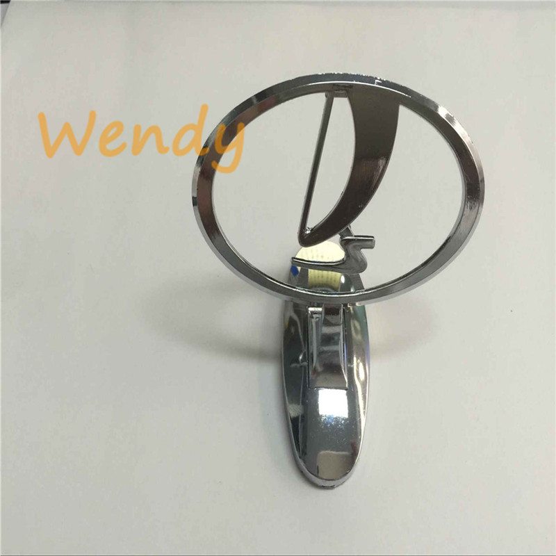 Chrome Lada Front Grill Grille Badge Emblem ABS Silver Car Styling Accessories Three dimensional Logo Sticker