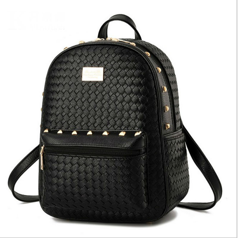 Women Backpack Leather Designer Brand Candy Color Casual