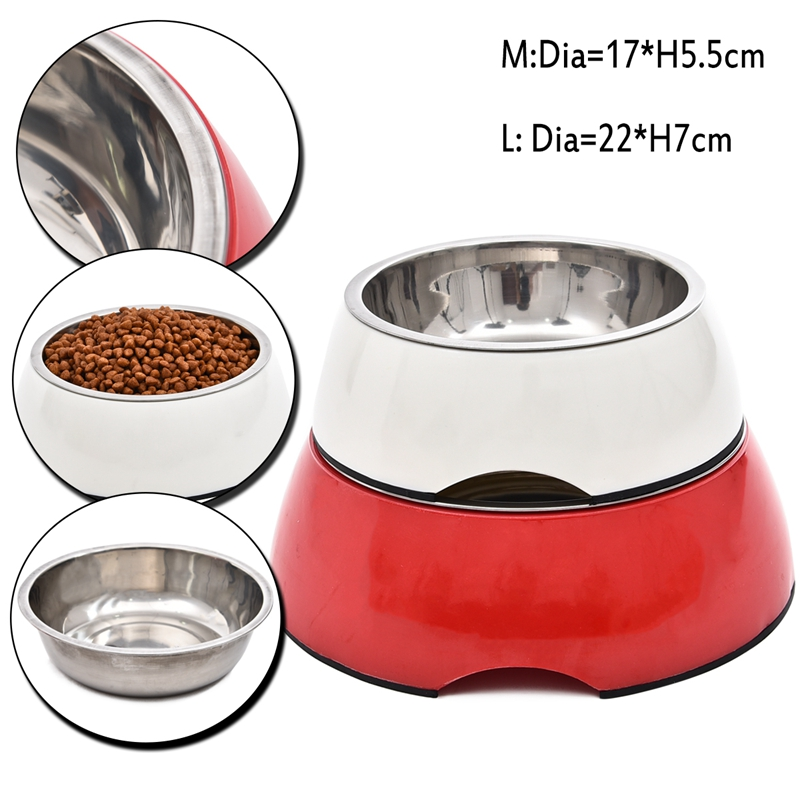 Durable Stainless Steel Dog Feeders Pet Dog High Quality Bowl Cat Water Feeder Antiskid Dog Bowl Suitable for Small/Large Dogs(China (Mainland))