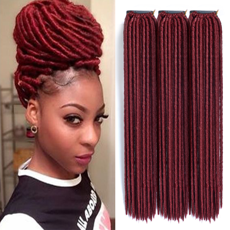 Crochet Faux Locs : Crochet Faux Locs Crochet Hair 18 Inch Dreadlock Extensions Black
