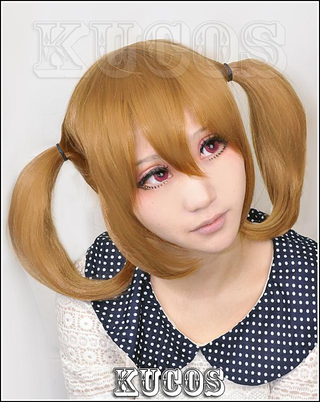 NEW! Sword Art Online Silica light brown Cosplay wig+ Free Wig Cap