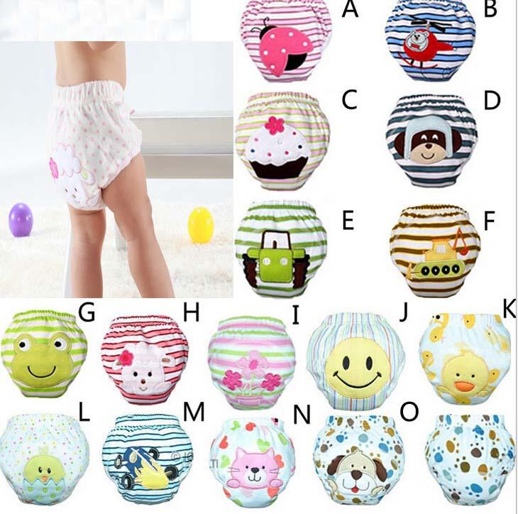 4pcs/lot Waterproof potty training pants baby newborn underwear cloth diapers toddler panties briefs free shipping(China (Mainland))