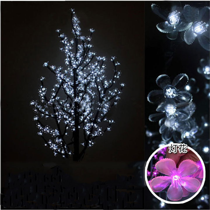 LED cherry tree light, ,pink LED with cherry flowers led christmas tree light(China (Mainland))