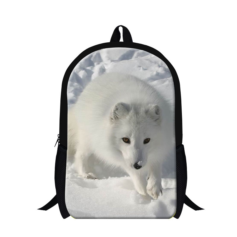 New Arrival Cool 3D Animal Fox Print Children School Bag Casual Mens Travel Shoulder Backpack Kids School Book Bag Free Shipping