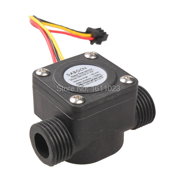 G1 2 Water Flow Sensor Fluid Flowmeter Switch Counter 1 30L min Meter E2shopping