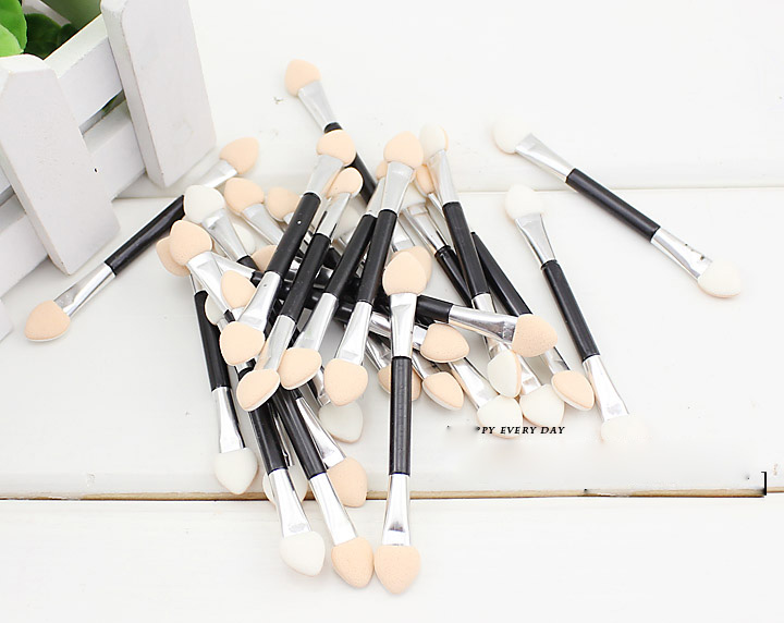 Eyeshadow Applicator Professional Double Ended Sponge Makeup Suppliers Eye Shadow Brushes Cosmetic Make up Tools(China (Mainland))