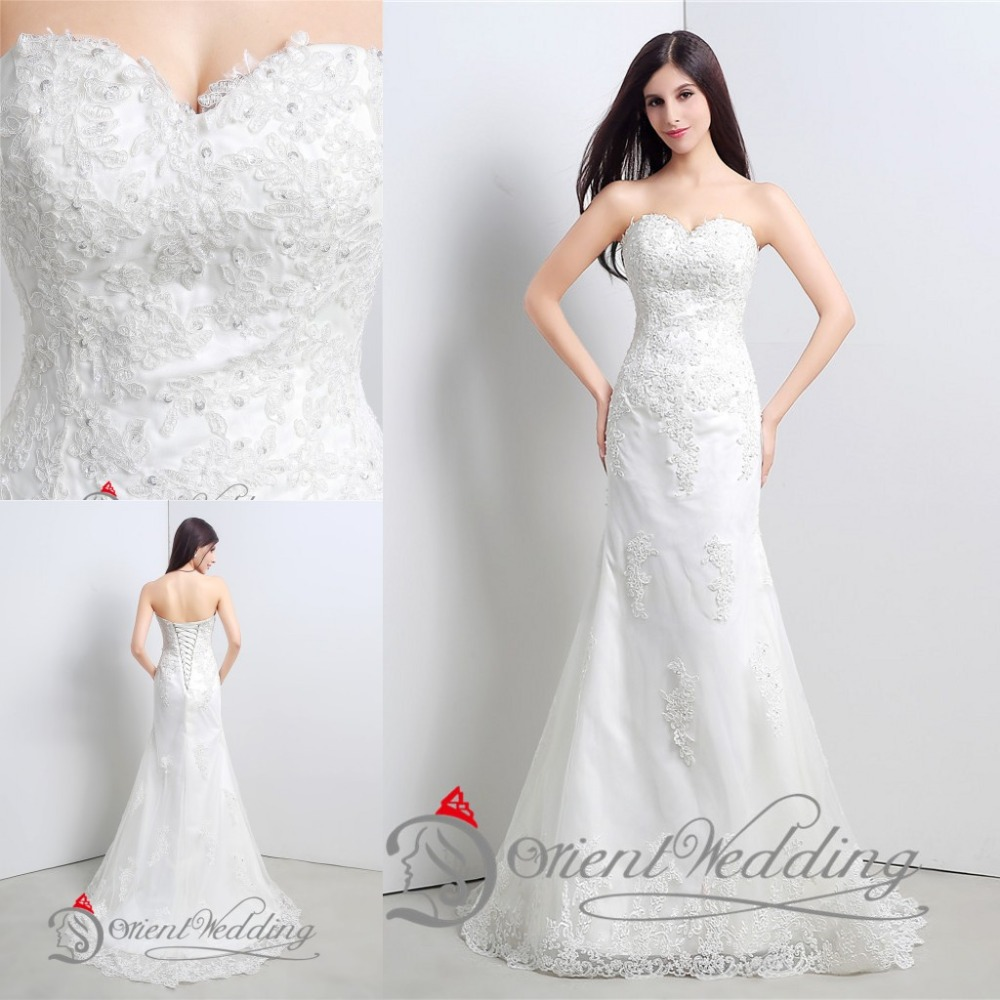 Elegant vintage sexy lace country western style china for Vintage mermaid style wedding dresses