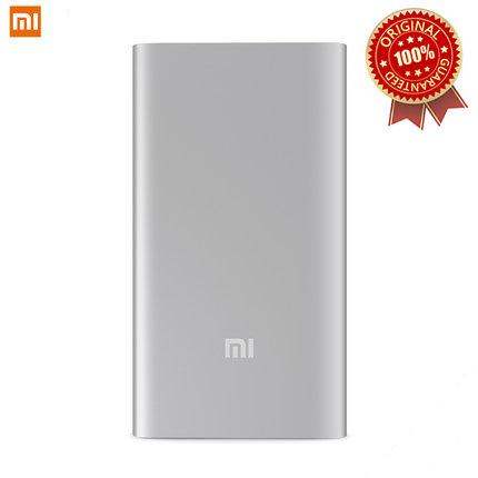 100% Original Xiaomi power bank 5000mAh Slim MI 5000 USB external battery portable charger mobile phone backup power metal case (China (Mainland))