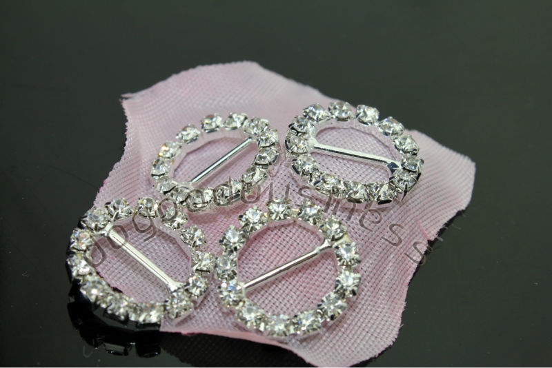 wedding invitations Rhinestone buckle, Crystal buckle , 15mm inner bar, 80pcs/lot round buckle full of crystal fit ribbon(China (Mainland))