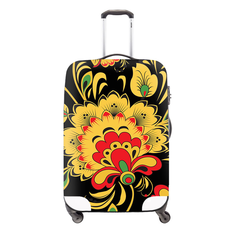 Fashion Waterproof National Flower Printing Travel Luggage Cover For 18-30 inch Anti-dust Suitcase Elastic Cover with Zipper<br><br>Aliexpress