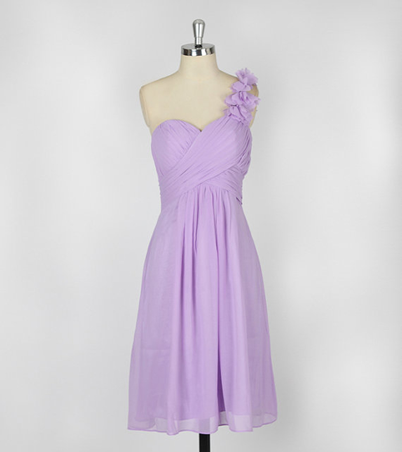 New Arrival 2014 Pleat Lilac Flowers Sweetheart One