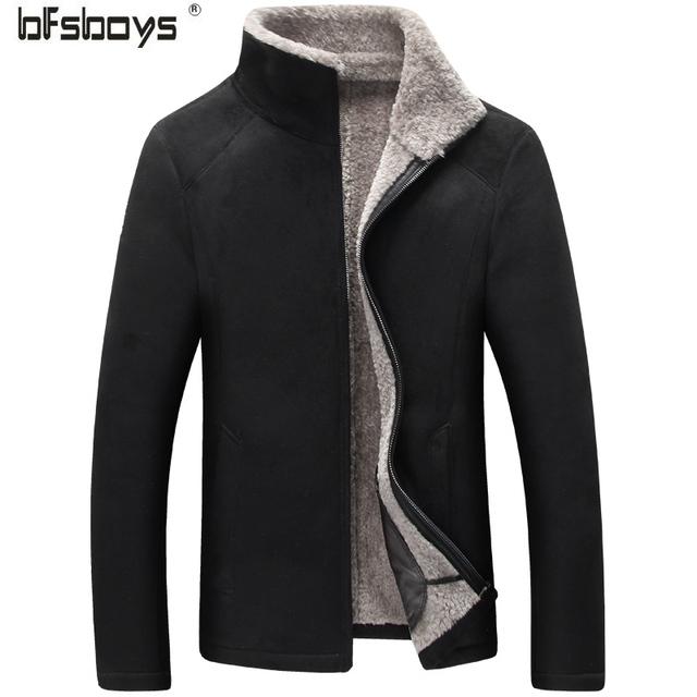 2016 новое прибытие зима Высокое качество замша мех случайные faishion куртка мужчины, зимняя шерсть пальто мужчины, плюс размер 2 цвета, бесплатная доставка