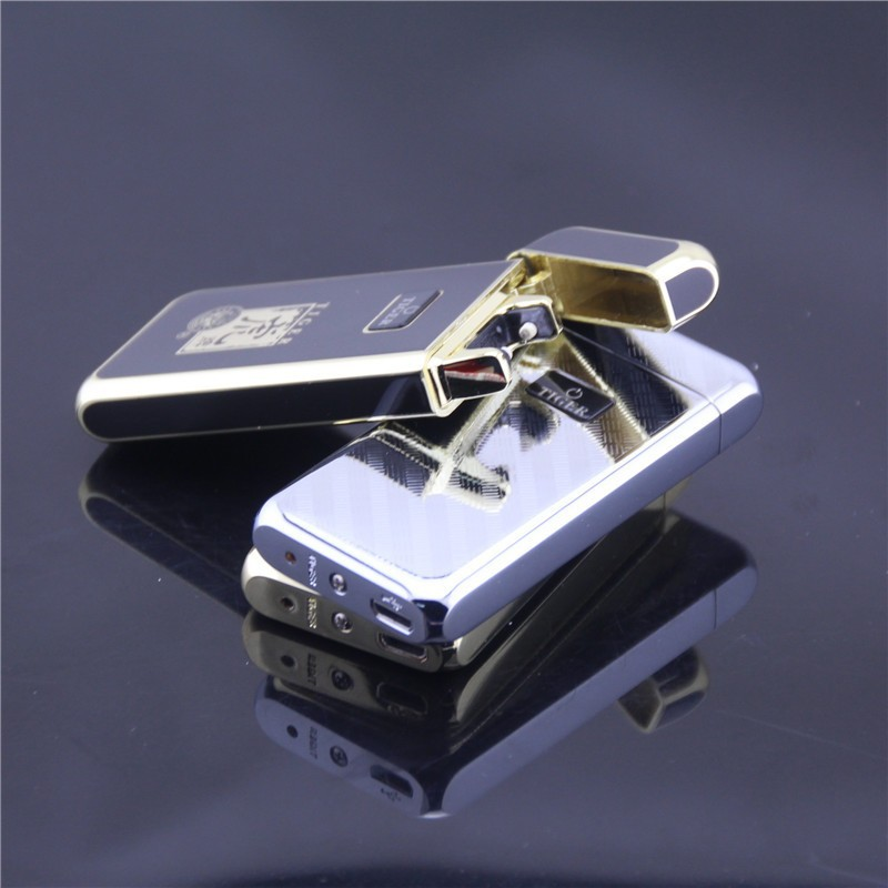 ถูก เสือเบา909 windproofโลหะบางเฉียบชีพจรชาร์จusbบุหรี่อิเล็กทรอนิกส์เบาเบาจัดส่งฟรี