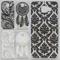 Case For Samsung Galaxy A7 2016 A710 A710F A7100 Hollow Out Texture Coloured Drawing Phone Cover Hard Plastic Phone Cases