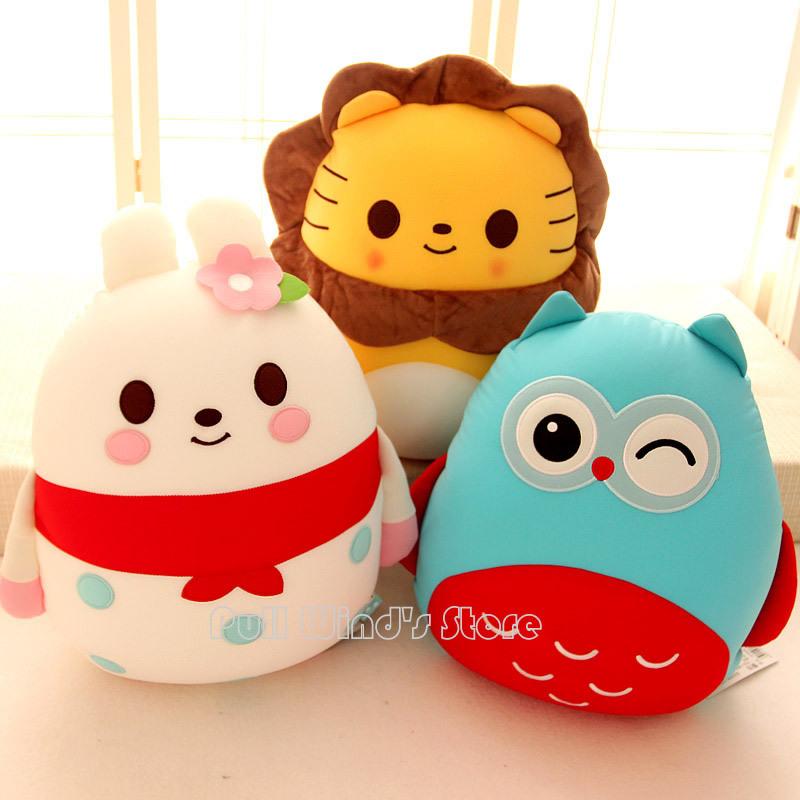 Cute Stuffed animal collection Pretty Plush Doll Toys Panda Pig Penguin Plush animal pillow Plush cartoon doll nice gift(China (Mainland))