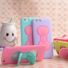 Silicone Case for iphone 5 5s Soft Bowknot Stand Back Cover for iphone 5s 5 5G Mobile Phone Bag Skin(China (Mainland))