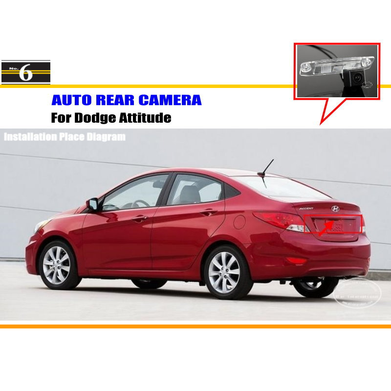 Car Parking Camera / Reverse Camera For Dodge Attitude / RearView Camera / License Plate Light OEM(China (Mainland))